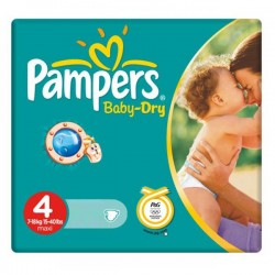 44 Couches Pampers Baby Dry 4