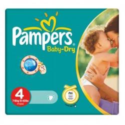 44 Couches de la marque Pampers Baby Dry de taille 4 sur Sos Couches