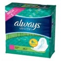 80 Serviettes hygiéniques Always Ultra Thin taille Long sur Sos Couches