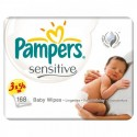 192 Lingettes Bébés Pampers Sensitive Baby - 3 Packs de 56 sur Sos Couches