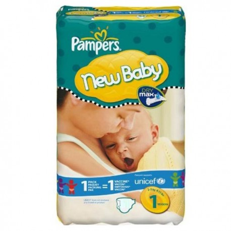 172 Couches Pampers New Baby Dry taille 1 sur Sos Couches