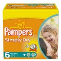 62 Couches Pampers Simply Dry 6 sur Sos Couches