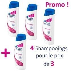 4 Shampooings Head & Shoulders Antipelliculaire Lisse et Soyeux - 4 au prix de 3