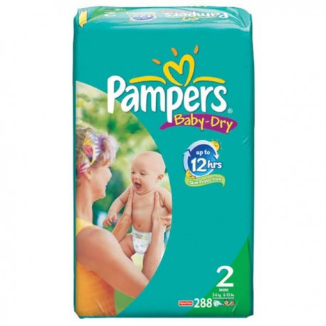 288 Couches Pampers Baby Dry 2 sur Sos Couches