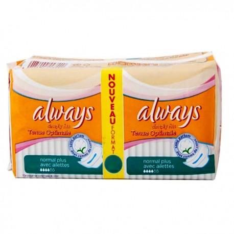 36 Serviettes hygiéniques Always Simply Fits taille normal plus sur Sos Couches