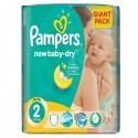 52 Couches Pampers New Baby Dry taille 2 sur Sos Couches