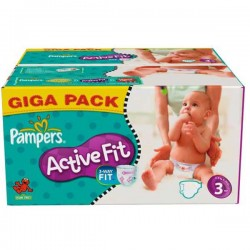 372 Couches Pampers Active Fit taille 3
