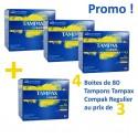 320 Tampons Tampax Compak - 4 au prix de 3 RegularavecApplicateur sur Sos Couches