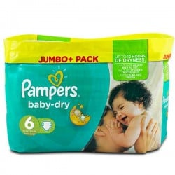 198 Couches Pampers Baby Dry taille 6 sur Sos Couches