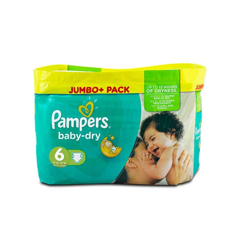 Achat 198 couches pampers baby dry taille 6 en solde sur sos couches - Couches pampers baby dry ...
