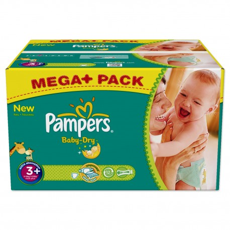 328 Couches Pampers Baby Dry taille 3+ sur Sos Couches