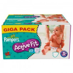 280 Couches de Pampers Active Fit taille 3+ sur Sos Couches