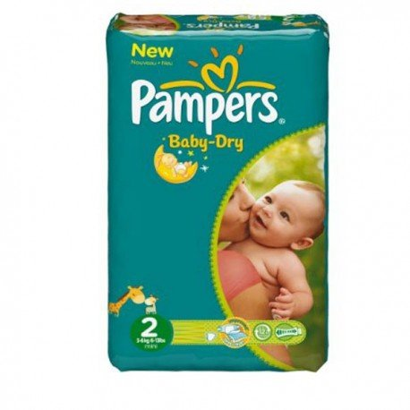 44 Couches Pampers Baby Dry 2 sur Sos Couches
