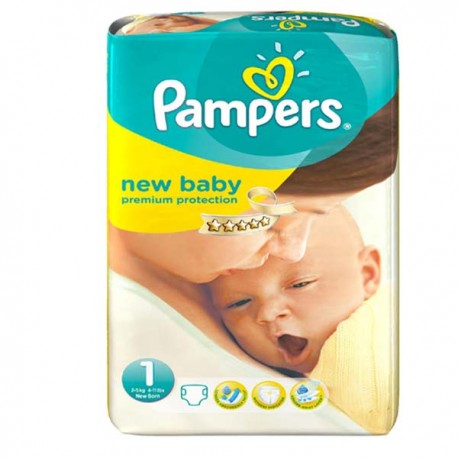 Achat 27 couches pampers new baby dry taille 1 en promotion sur sos couches - Couches pampers taille 1 ...