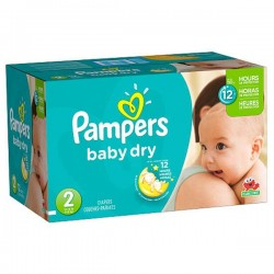 252 Couches Pampers Baby Dry taille 2