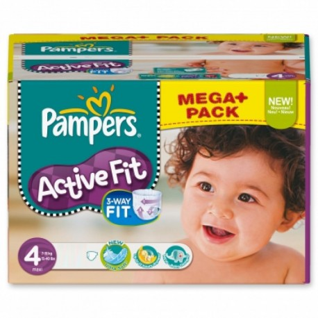 312 Couches Pampers Active Fit taille 4 sur Sos Couches