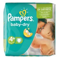 41 Couches Pampers de la gamme Baby Dry de taille 4+ sur Sos Couches
