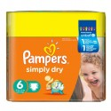 124 Couches Pampers Simply Dry 6 sur Sos Couches