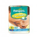 50 Couches Pampers New Baby taille 1 sur Sos Couches