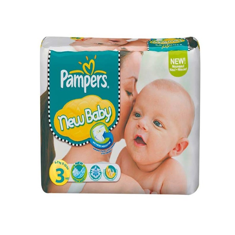 Achat 38 couches pampers new baby taille 3 pas cher sur sos couches - Couche pampers new baby taille 2 ...