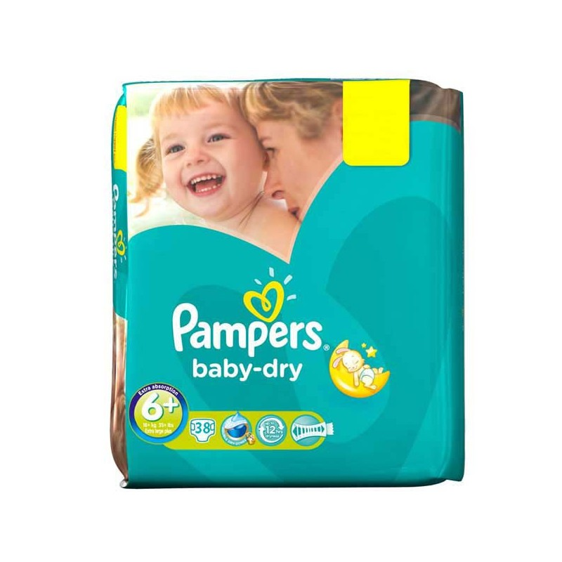 Achat 38 couches pampers baby dry taille 6 moins cher sur sos couches - Couches pampers baby dry ...