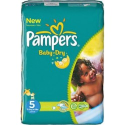 180 Couches Pampers Baby Dry taille 5