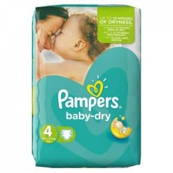 62 Couches Pampers Baby Dry taille 4 sur Sos Couches