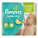 56 Couches Pampers Baby Dry 4+ sur Sos Couches