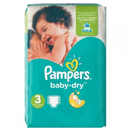 70 Couches Pampers Baby Dry 3 sur Sos Couches