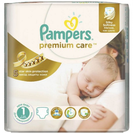 22 Couches Pampers Premium Care taille 1 sur Sos Couches