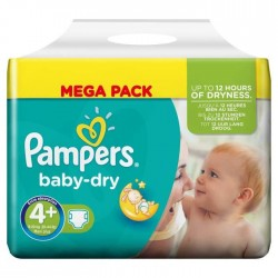 42 Couches Pampers Baby Dry 4+