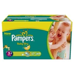 476 Couches Pampers Baby Dry 3+