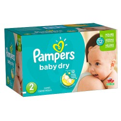 396 Couches de Pampers Baby Dry de taille 2 sur Sos Couches