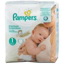 39 Couches Pampers New Baby Sensitive taille 1 sur Sos Couches