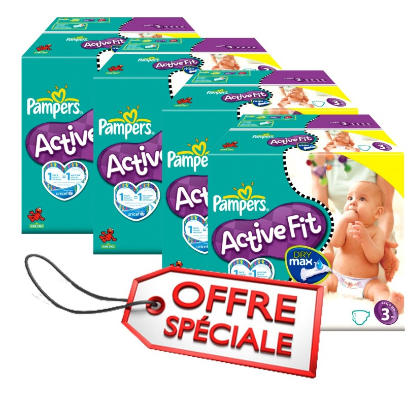 Achat 615 couches pampers active fit taille 3 pas cher sur - Achat couches pampers en gros pas cher ...