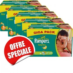 680 Couches Pampers Baby Dry de taille 3+ sur Sos Couches