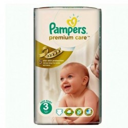 56 Couches Pampers Premium Care Pants taille 3