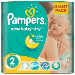 68 Couches de Pampers New Baby Dry taille 2 sur Sos Couches