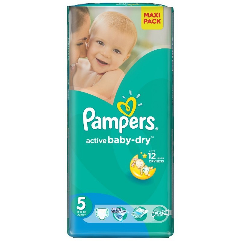 Achat 28 couches pampers active baby dry taille 5 moins - Couche pampers taille 5 pas cher ...