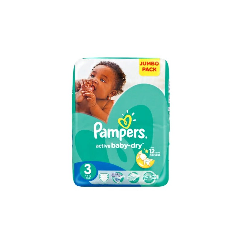 Achat 74 couches pampers active baby dry taille 3 en solde sur sos couches - Couches pampers taille 3 ...