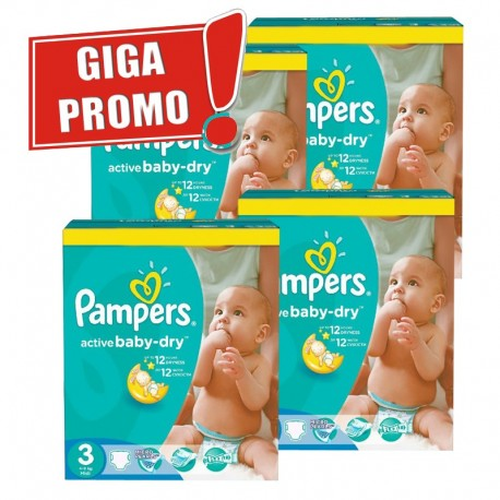 814 Couches Pampers Active Baby Dry taille 3 sur Sos Couches