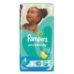 76 Couches Pampers Active Baby Dry taille 4 sur Sos Couches