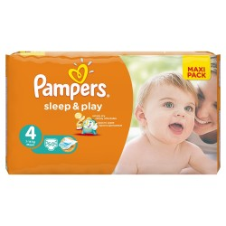 50 Couches Pampers Sleep & Play de taille 4 sur Sos Couches