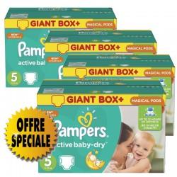 522 Couches Pampers de la gamme Active Baby Dry de taille 5 sur Sos Couches