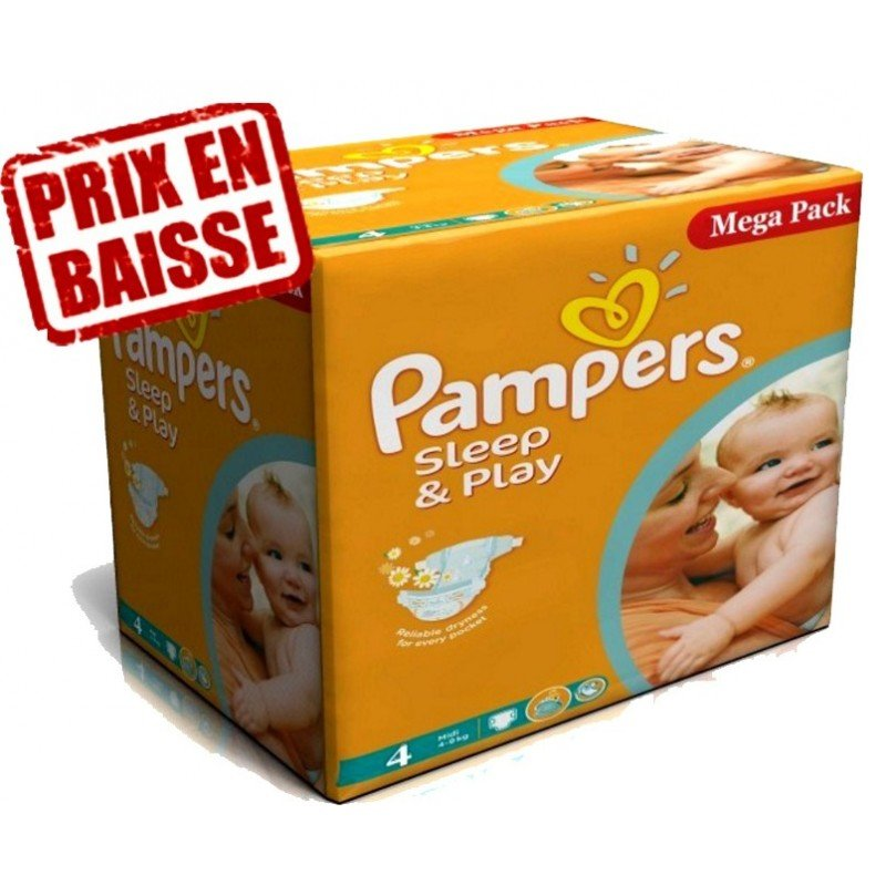Achat couches pampers sleep play taille 4 pas cher sur - Couches pampers 4 pas cher ...