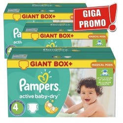 696 Couches Pampers Active Baby Dry taille 4