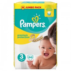 66 Couches Pampers Premium Protection 3