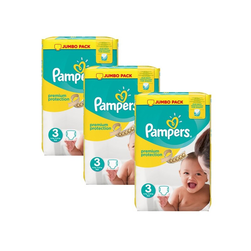 Achat 198 couches pampers premium protection taille 3 pas cher sur sos couches - Couches pampers en gros pas cher ...