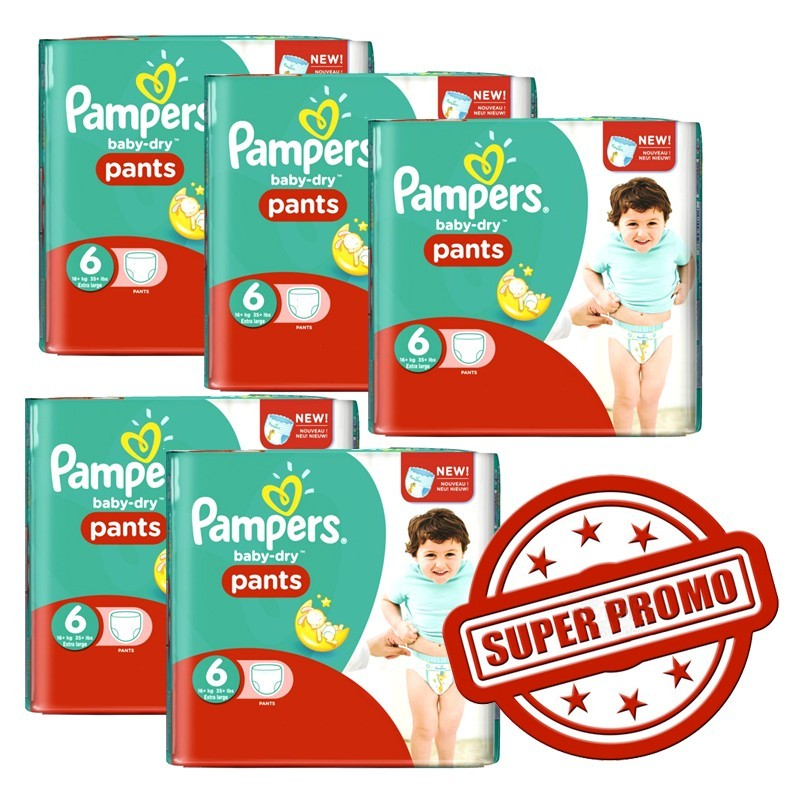 Achat 252 couches pampers baby dry pants taille 6 en solde - Achat couches pampers en gros pas cher ...