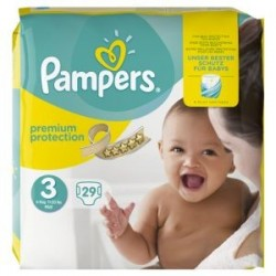 29 Couches Pampers Premium Protection 3